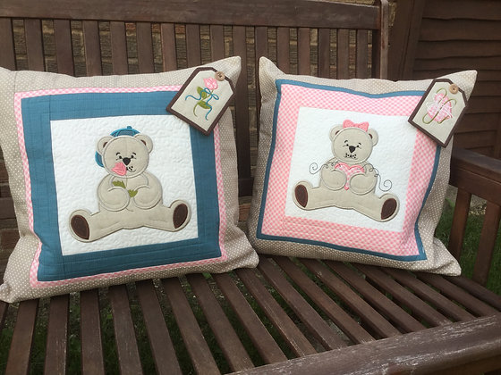machine embroidery teddy bear design, teddy bear cushion, machine embroidery, baby machine embroidery design, baby quilt,