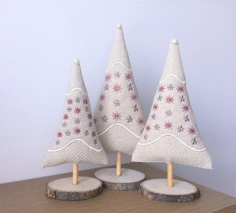 ITHChristmas Trees x 3 embroidery design only