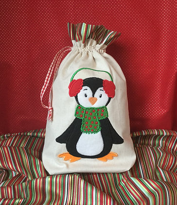 "4x Penguin Applique Designs 7""x 5"""