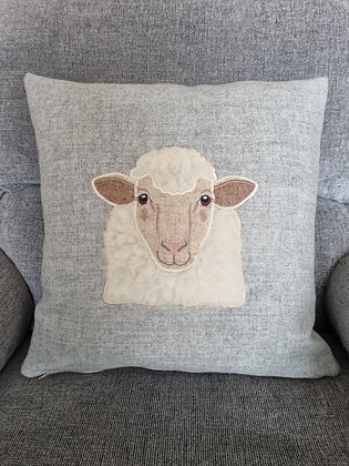 Applique tweed woolly sheep