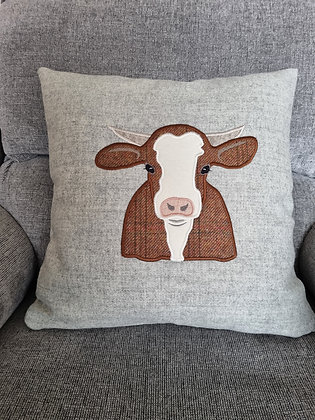 Applique tweed cow/calf