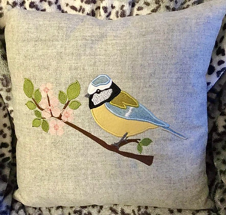 blue tit applique