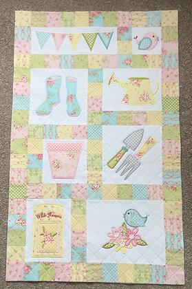 Summer Garden Embroidered Quilt