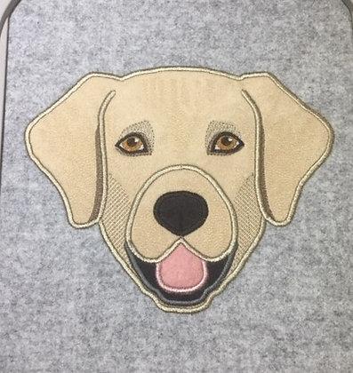 "Labrador Applique 8"""