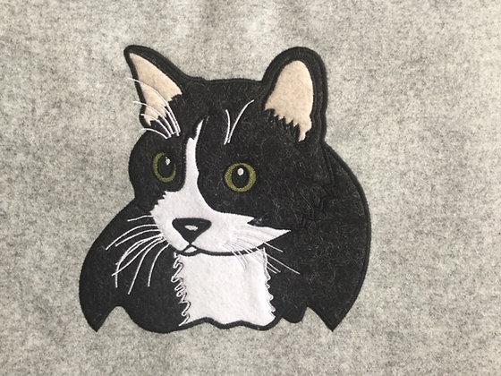 Tweed Cat Applique