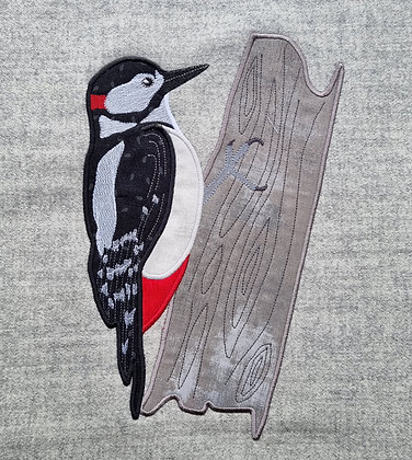 Applique Spotted Woodpecker