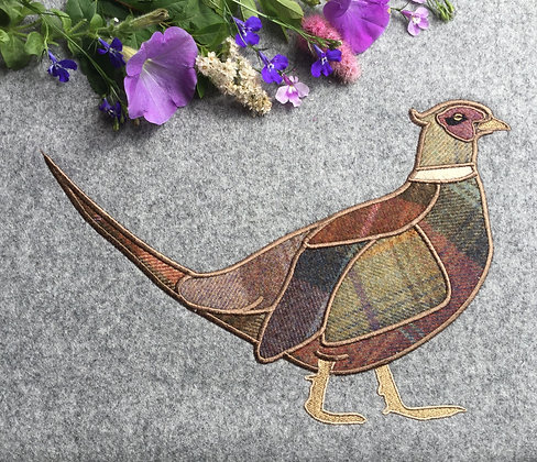 Pheasant Machine Embroidery Applique
