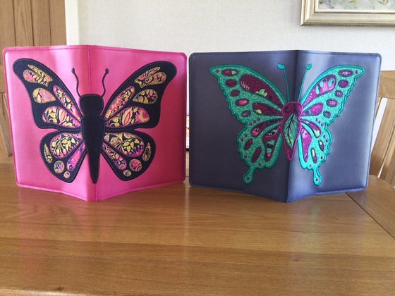 A5 Butterfly notebook covers 2 designs included