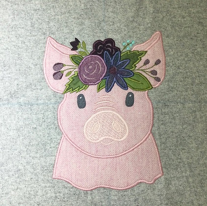 tweed pig with flowers