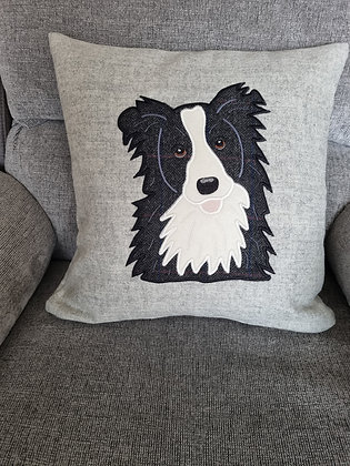 tweed border collie