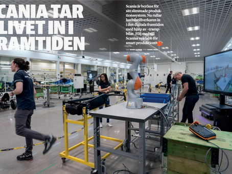 SCANIA Smart Factory Lab in IVA magazine #3