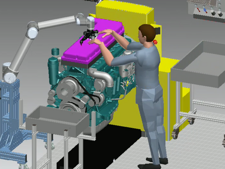 Can virtual simulation be a trigger for the implementation of human-robot collaboration?