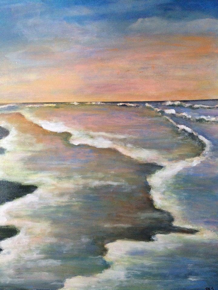 Ocean Waves at Sunset