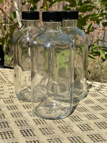8oz Clear Boston Round Bottle
