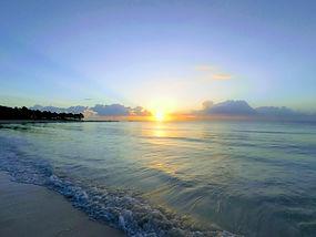 beach; lake; sunrise