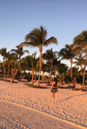beach photography, sand and palm trees, Mexico