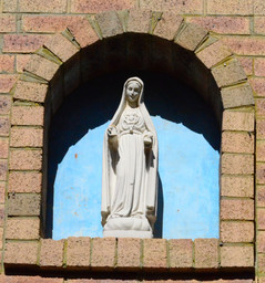 Statue of Our Lady on the bell tower