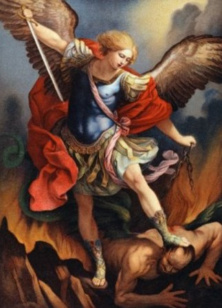St Michael the Archangel and the Marine in Korea
