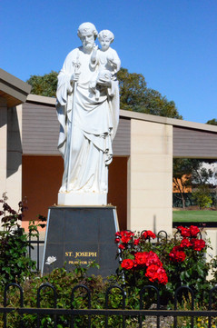 St. Joseph Statue Rose Garden