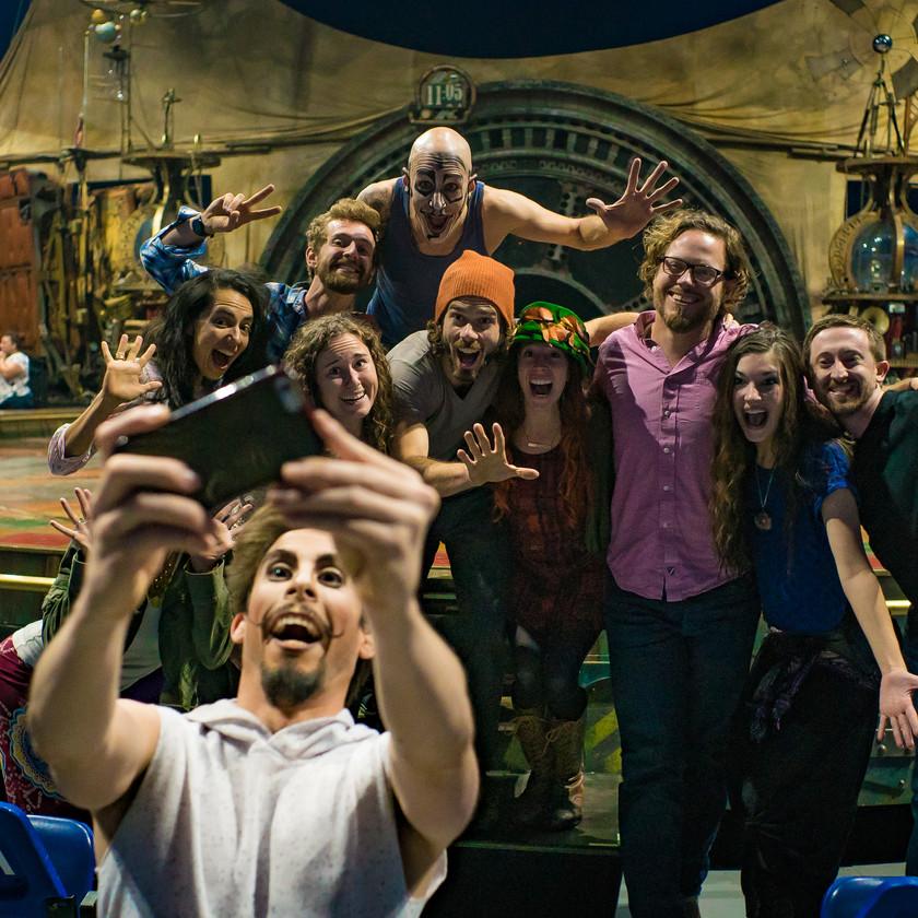 Memorable Selfie Photo, CIRCUS PICNIC and Cirque Du Soliel Collide, Circus Themed Corporate Entertainment Party Ideas