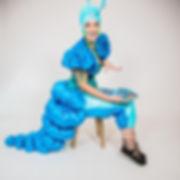 CIRCUS PICNIC Wonderland Characters at a company picnic in San Antonio, Blue Caterpillar