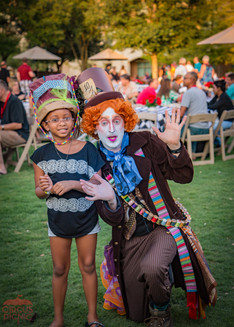 Hatter's Photoshoot with Guest, Fun Party Experience, Mad Hatters Tricky Encounter, CIRCUS PICNIC Wonderland Themed Corporate Event, Company Party