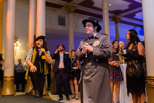 Murder Mystery Entertainers Performing at a Corporate Party in Austin Texas