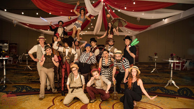 The Circus Cast Photo shoot, Entertainers, Performers, Talents, Artists, Austin Texas 1920's Wooden Nickel Carnival Themed Party, Corporate Event, Company Party, Imaginarium Convention, Themed Party Ideas