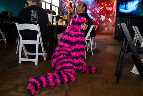 Play With The Cheshire Cat, Quantumland Cheshire Cat Experience at Texas Corporate Party