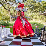 The Queen of Chess Board, Event Entertainment, Event Entertainer, CIRCUS PICNIC Wonderland Theme Corporate Party. Texas