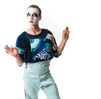 Whimsical Cirque Modern Marcel Marceau Inspired Mime