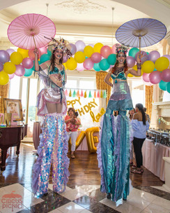 Giant Sea Princesses, Circus Theme, CIRCUS PICNIC Mermaid Themed Party Ideas, Corporate Event at Dallas Texas
