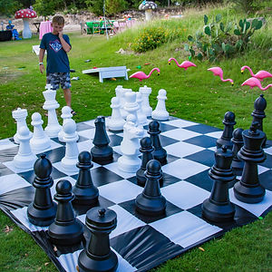 CIRCUS PICNIC Wonderland Giant Chess Game, Wonderland Games at the company picnic in Texas