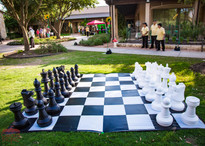 The Giant Chess Board, Wonderland Board Game, Wonderland Entertainment Activity, CIRCUS PICNIC Circus Style Corporate Event In Texas