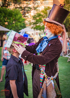 Kids Unforgettable Experience with Mad Hatter, Entertained and Engaged at Wonderland Theme Party Magicians, Entertainers, Mad Hatters, Circus Entertainment Style Event, Creative Show at Company Party Texas