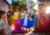Wonderland Characters at a company picnic in San Antonio. CIRCUS PICNIC Wonderland Entertainers