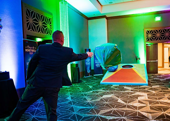 Entertaining Interactive Game, Guest and the Giant Bean Bag Toss Game at a  Corporate Party in San Antonio