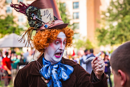 Magical Mad Hatter, Mystical Experience With Mad Hatter, Wonderland Magic Performer, Artist, CIRCUS PICNIC Wonderland Theme Company Party