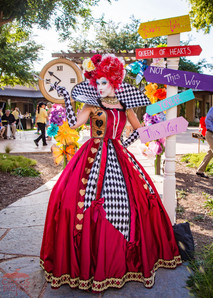 The Queen of Hearts was Lost, Wonderland Characters at Austin Texas Corporate Event, CIRCUS PICNIC Entertainment Style Event