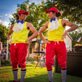 Creative Acrobats, Creative and Artistic Event Entertainment Show, The CIRCUS PICNIC Wonderland Themed Corporate Party. Texas