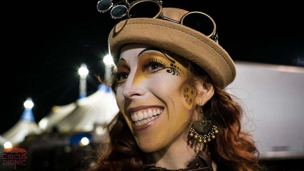Kelly Greenheart Steampunk Makeup at Cirque Du Soleil Circus Show