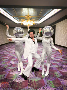 Dance Within Disco balls, Featured Character John Travolta The Impersonator, Entertainers, Entertainment, CIRCUS PICNIC Talents, Disco Styled, Themed Corporate Event at Austin   Texas, Dallas Texas, Houston Texas, San Antonio Texas