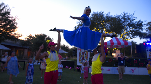 Wonderland Wonderful Afternoon, CIRCUS PICNIC Cast, Talents, Performer, Entertainer at Circus Style Wonderland Theme Corporate Party, Texas