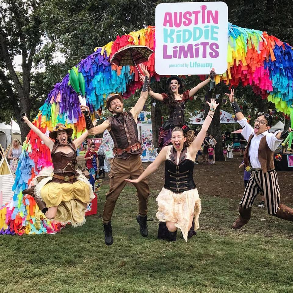 CIRCUS PICNIC Aeronauts Performing at Austin Kiddie Limits at ACL