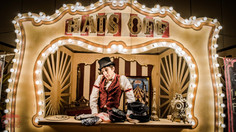 Hats Off Circus Encounter, Circus Game Entertainment at 1920's Wooden Nickel Carnival Theme Experience, Corporate Party, Texas
