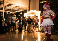 Daring Hula Hoop Performer, Alluring Circus Performance, CIRCUS PICNIC Spectacular Event Entertainment, Circus Themed Party Idea, Texas