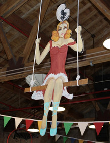 A GIRL ON A FLYING TRAPEZE Poster, CIRCUS PICNIC COHESIVE DECOR For Your Themed Corporate Event, Texas