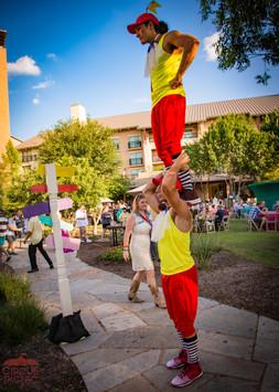 Amazing Stunts at Wonderland, CIRCUS PICNIC Wonderland Themed Company Picnic, Texas