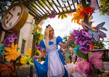 Wandering at Wonderland, Alice in Wonderful Land, Wonderland Character, Creative and Colorful Party Environment, Circus Picnic Entertaining Corporate Event. Texas