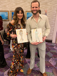 Disco Live Fashion Sketching, Experience and Get Your Sketch, Sketching Talents Show at Disco Fever Corporate Party, Texas